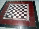 podłoga na wzór szachownicy